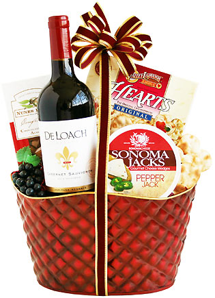 A taste of the Holidays Wine Gift Basket