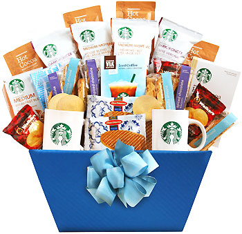 A World of Starbucks Coffee Gift Basket