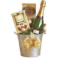 Bucket of Joyful Spirit Champagne Gift