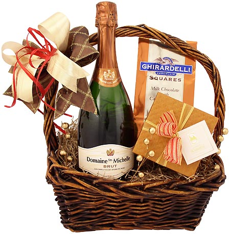 Champagne gift baskets with free shipping sparkling gifts champagne sweetness gift basket negle Images