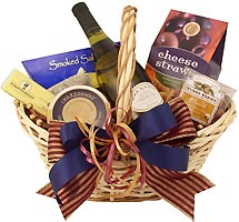 Chardonnay and Gourmet Gift Basket