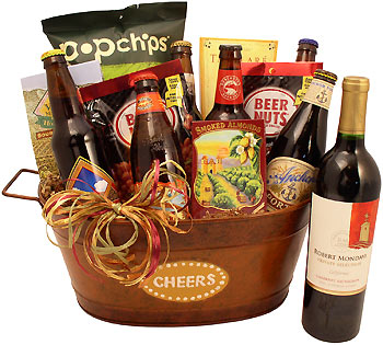 Cheer Wine and Beer Bucket Gift