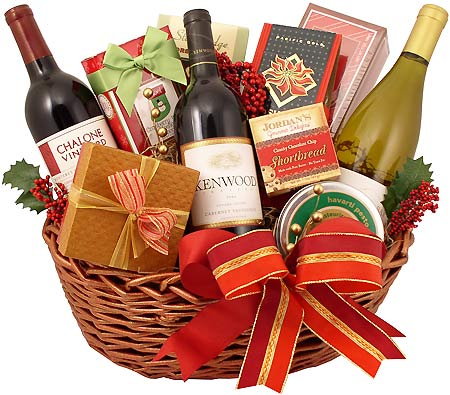 Send a taste of the California Good Life. Premium gift baskets featuring gourmet food, chocolate, and wines. Free Shipping to California.
