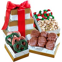 Wonderful Colorful Christmas Sweets Gift Tower