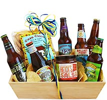 Craft Brews & Snacks Gift Basket