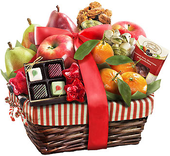 Farmstyle Christmas Fruit Gift Basket