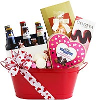 For the Love of Beer Valentine Gift Basket