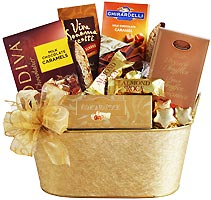 Golden Chocolate Holiday Gift Tin