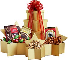 Golden Star Gourmet Gift Tower