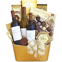 Golden Wine Classic Gift Basket