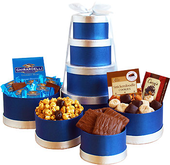 Kosher Hannukah Snack Gift Tower