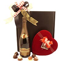 Valentine Roederer Sparkling Wine Paired with Classic Truffles