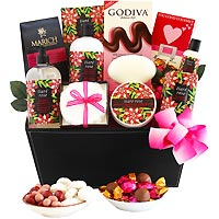 Romantic Rose Spa Gift Basket