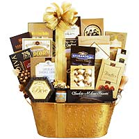 Silver and Gold Celebrations Gift Basket