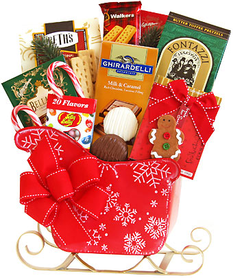 Sleigh Ride Holiday Gift Basket