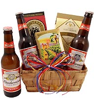 Three Buds for You Beer Gift Basket