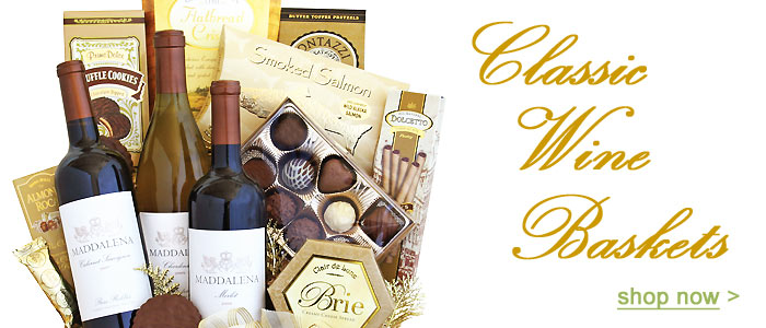 Shop our Wine Gift Baskets