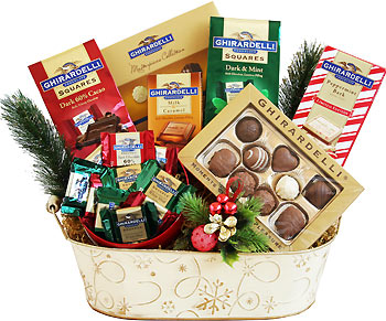 Winter Chocolate Medley Gift Basket
